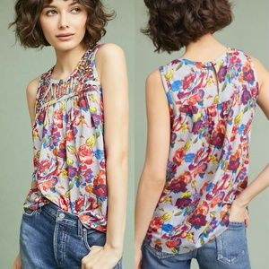 Anthropologie Ranna Gill Faye Floral Top